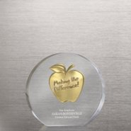 Embedded Medallion Trophy - Apple - Making the Difference